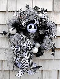 Jack Skellington Home Decor Nightmare Before Christmas Wreath Jack Skellington Wreath