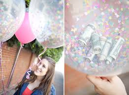 balloons with gifts inside money balloons sugar and charm sweet recipes entertaining