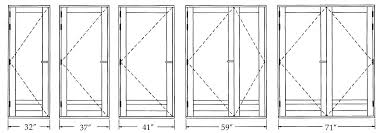 Bifold Closet Door Sizes Wonderful Bi Fold Door Sizes Pictures Ideas House Design