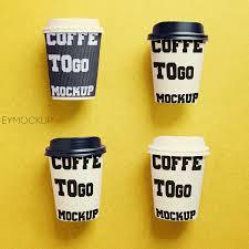 modern coffee cups modern coffee cups mockup eymockup