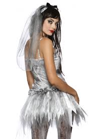 Wedding Dress Halloween Costumes by New Zombie Bride Wedding Corpse Halloween Costume Ebay
