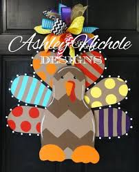 turkey door hanger funky turkey door hanger ashleynichole designs