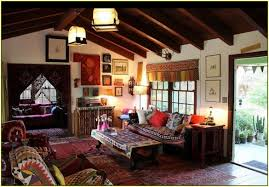 home style warm lamp boho decorating ideas with brown sofas on