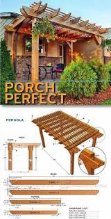 Easy Pergola Ideas by Porch Pergola Plans Outdoor Plans And Projects Woodarchivist