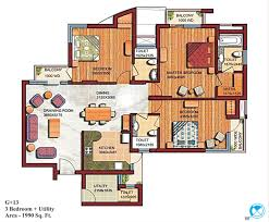 home design 2000 square feet in india buat testing doang 3 bhk interior design projects