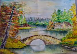 beautiful sketches of nature with colours beautiful pencil