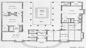 Ranch Style House Plans House U Shaped House Plan With Courtyard Spanish Mission Style