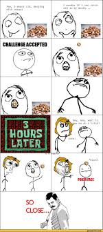 Meme Face Comics - me 5 years old derping with cereal i wonder if i can catch one in