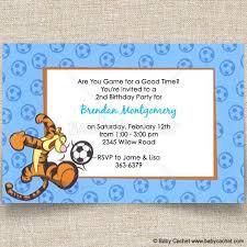 disney tigger soccer birthday invitations baby cachet
