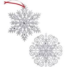 large glitter snowflake ornaments 4 79 liked on polyvore