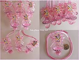 baby shower pacifiers minnie mouse baby 12 pink pacifier necklaces baby