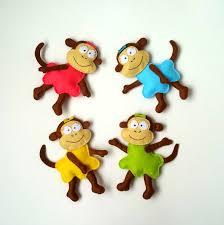 monkey ornament felt monkey plush monkey magnet monkey