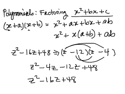 Factoring Trinomials Of The Form Ax2 Bx C Worksheet Answers Showme Section 10 6 Factoring Polynomials Of The Form X 2 Bx C