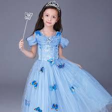 kids girls party fancy dress butterfly cinderella sandy princess