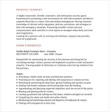 Security Guard Resume Template For Free Security Resume Template 28 Images Security Guard Resume 5
