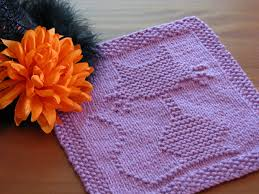 cat dishcloth knitting pattern knitting bee