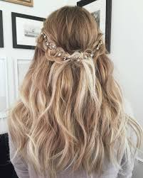 lauren conrad blonde ombre half up half down wavy long hairstyle