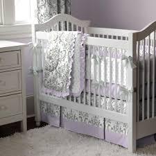 Lilac Damask Crib Bedding Lilac And Gray Traditions Damask Crib Bedding Carousel Designs