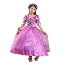 dreamhigh princess rapunzel costume dress size 7 8