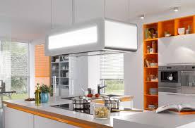 hotte de cuisine ilot hotte de cuisine îlot design original avec éclairage intégré