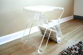 clear plastic bedside table clear plastic bedside table dolly clear acrylic side table with
