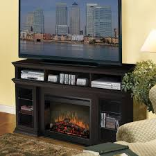 entrancing dark brown electric fireplace ideas combined attractive