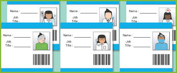 hospital id badges eyfs role play free early years u0026 primary