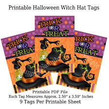 diy printable halloween craft toppers tags u0026 bags