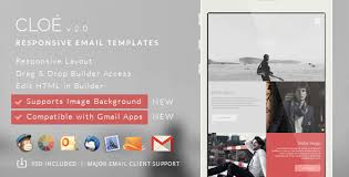 cloe responsive email template builder access by theemon