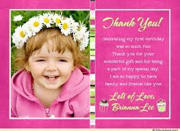 cupcake photo thank you card birthday party