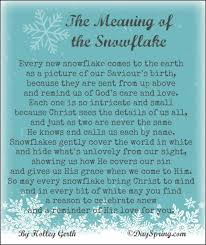 the meaning of the snowflake holley gerth