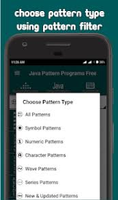 java pattern programs for class 10 java pattern programs free apps on google play