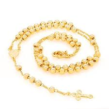 gold rosary gold rosary small hc pztb duil religious jewelry lifetime