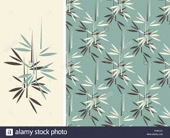 a japanese style bamboo seamless tile and its isolated pattern in a japanese style bamboo seamless tile and its isolated pattern in a vintage blue color palette