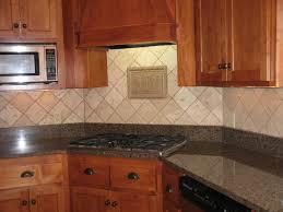 kitchen backsplash travertine tile kitchen backsplash ideas white cabinets brown countertop subway tile