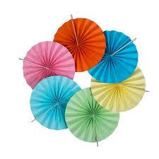 diy paper fans 5pcs paper fans princess birthday decor paper rosettes pinwheel