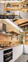 kitchen kitchen ceiling lighting wooden varnished kitchen island