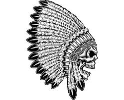 indian skull 5 native american warrior headdress feather tribe