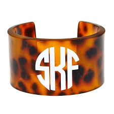 monogrammed cuff bracelet monogrammed cuff currently obsessed tortoise