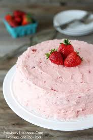 Strawberry Lemonade Cake Recipe