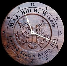 anniversary clocks engraved personalized army veteran gift clock engraved