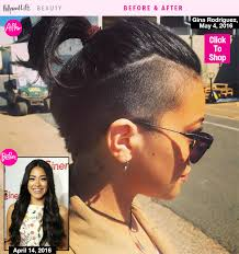 short natural edgy hairstyles gina rodriguez debuts edgy hair makeover see her short new do