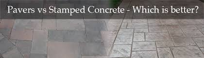 Average Price For Concrete Patio Pavers Vs Stamped Concrete Which Is Better Dallas Landscape