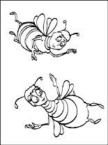 bee movie coloring coloring pages