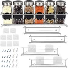 garage door for kitchen cabinet spice rack organizer for cabinet door kitchen pantry organization and storage set of 4 chrome tiered hanging shelf for spice jars and seasonings