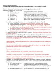 answer key biology eoc essential standard study guide