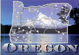 Oregon Lighthouse Map by Oregon Map U0026 Mt Hood Remembering Letters And Postcards