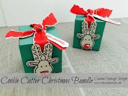 craftycarolinecreates cookie cutter christmas surprise gift box