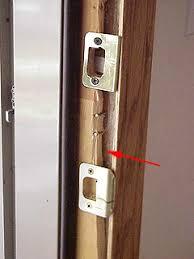 Repair Exterior Door Jamb How To Repair A Split Or Cracked Door Jamb Damage From A In
