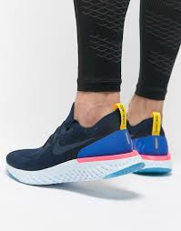 Nike React nike running nike running epic react flyknit trainers in blue